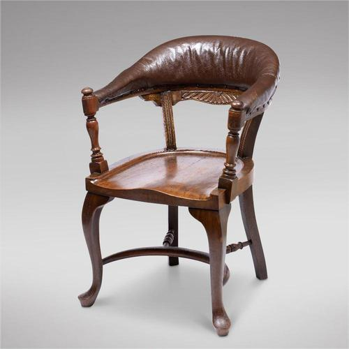 Victorian Hardwood Desk Chair (1 of 4)