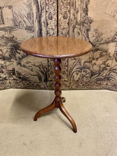 Light Oak Bobbin Turned Occasional Table (1 of 4)