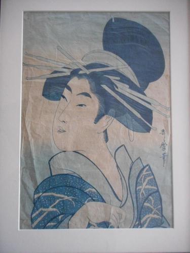Utamaro Japanese Woodblock Print (1 of 4)
