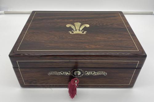 William IV Inlaid Rosewood Writing Slope (1 of 12)