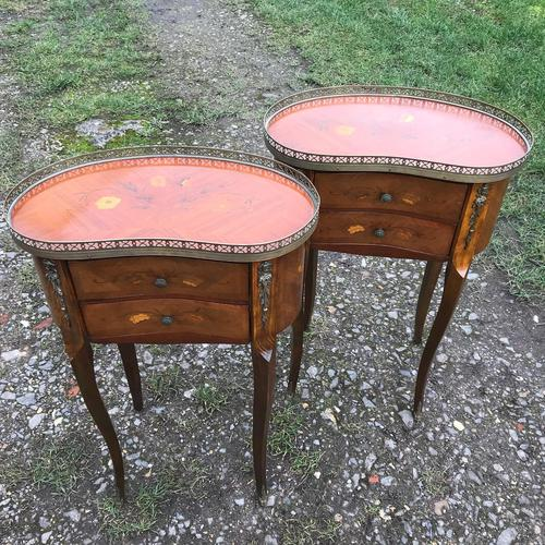 Pair of Inlaid Bedside Cabinets (1 of 8)