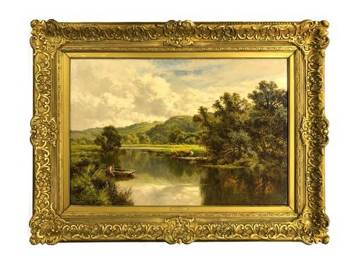 'The Avon' Ringwood, Hampshire by Henry H. Parker (Circa 1900) (1 of 6)