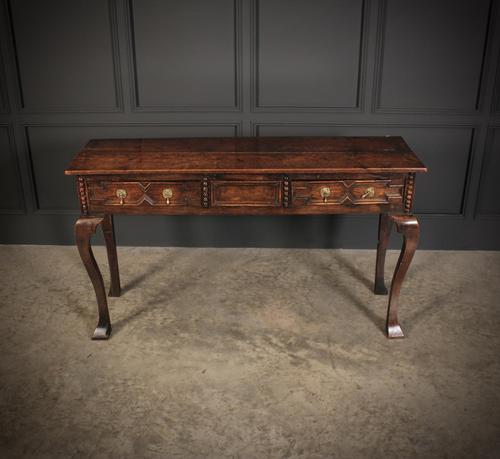 18th Century Oak Hall Table (1 of 12)