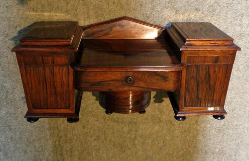 Rare Rosewood Tea Caddy (1 of 4)