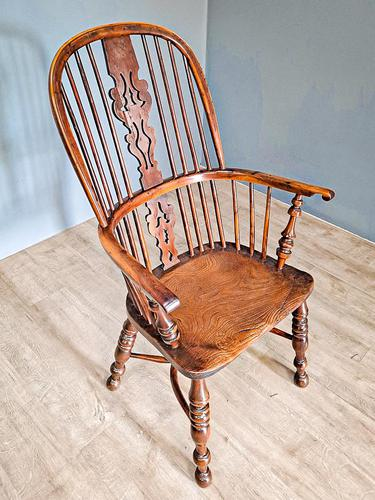 19th Century Yew Wood Windsor Chair (1 of 4)