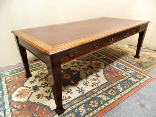 Large Mahogany Library Table /  Boardroom Table (1 of 8)