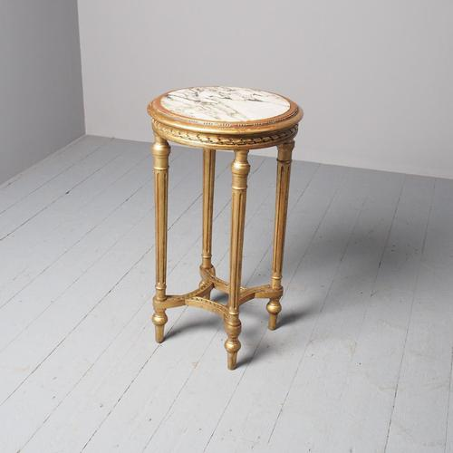 Antique Louis XV Style Giltwood Occasional Table (1 of 8)