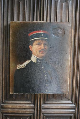 Oil Painting of a WW1 French Officer in Uniform (1 of 6)