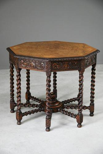 Victorian Octagonal Centre Table (1 of 12)