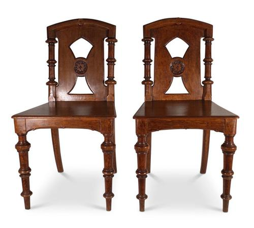 Pair of English Hall Chairs (1 of 6)