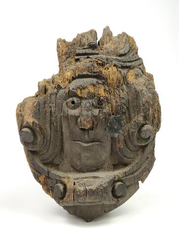 Late Medieval Carved Oak King (1 of 2)