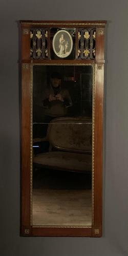 Superb early Austrian mahogany Biedermeier trumeau mirror (1 of 13)