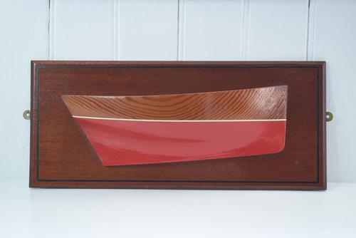 Cornish Fowey Lugger Wooden Half Hull Model (1 of 10)