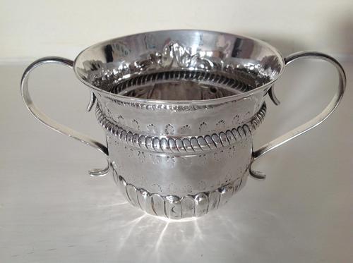 Antique George II Silver Porringer - 1749 (1 of 4)
