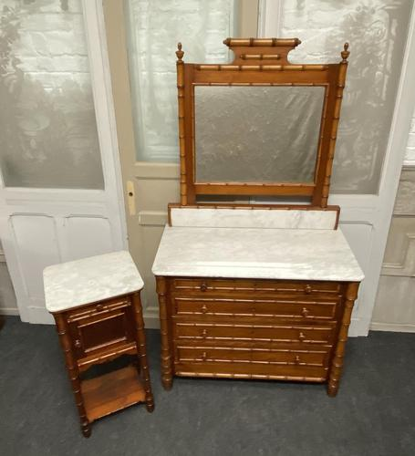 French Faux Bamboo Bedroom Set (1 of 16)