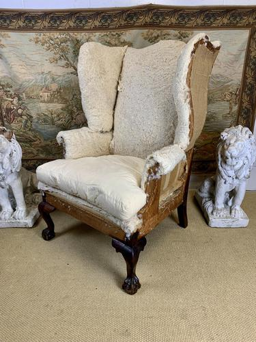 Large Wingback Armchair for Recovering (1 of 10)