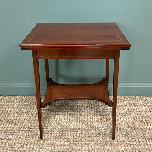 High Quality Edwardian Inlaid Antique Card Table (1 of 6)