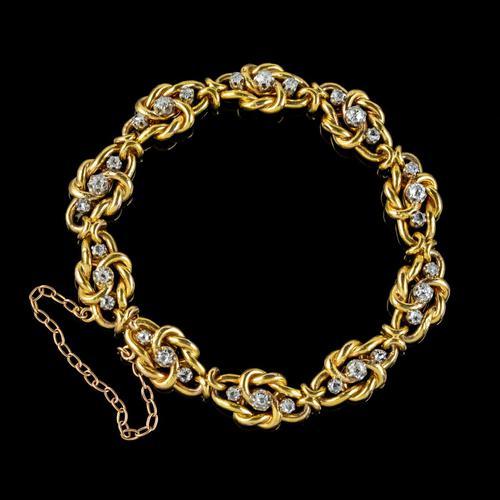 Antique French Diamond Bracelet 18ct Gold 2.20ct Of Diamond c.1900 (1 of 6)