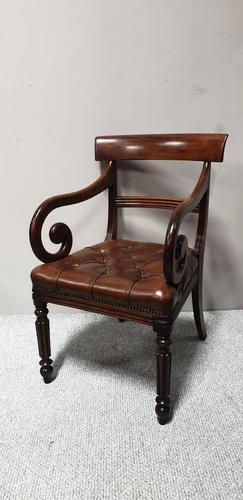 William IV Mahogany Desk Chair (1 of 9)