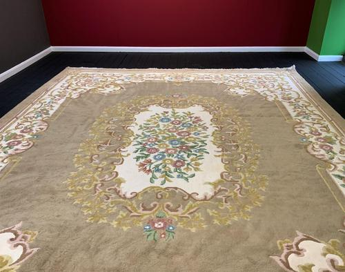 Superb Large 15x12ft Vintage Antique Indian Kayam Pure Woollen Thick Pile Rug (1 of 13)