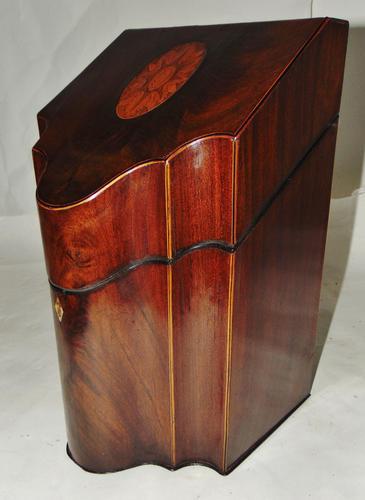 Georgian Mahogany Knife Box, Complete (1 of 8)