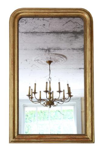 19th Century Large Quality Gilt Overmantle or Wall Mirror (1 of 7)