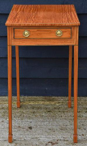 Superb Quality Georgian Satinwood & Inlaid Lamp / Wine / Side Table c.1800 (1 of 10)