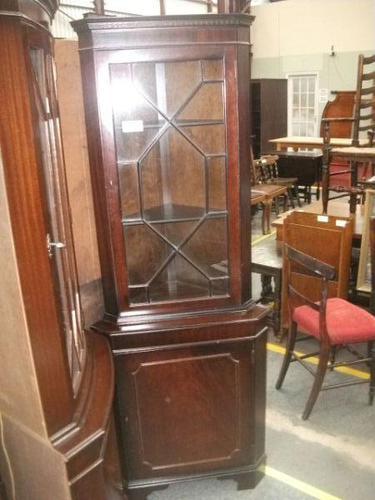 Mahogany Corner Cabinet (1 of 3)