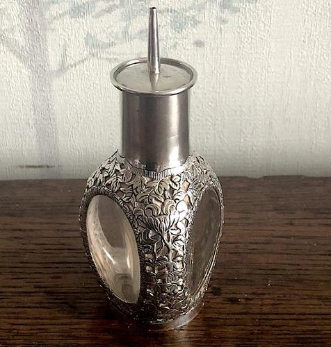 Hong Kong Export Silver Overlaid Scent Bottle (1 of 4)