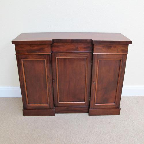Mahogany Breakfront Side Cabinet (1 of 7)