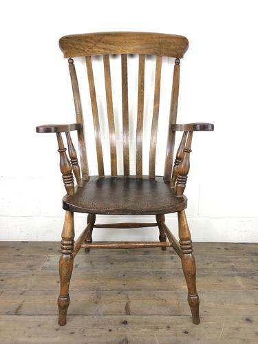 Victorian Ash & Elm Windsor Armchair (1 of 12)