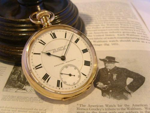 Antique Pocket Watch 1903 Special Waltham 10ct Rose Gold Filled Fwo (1 of 12)