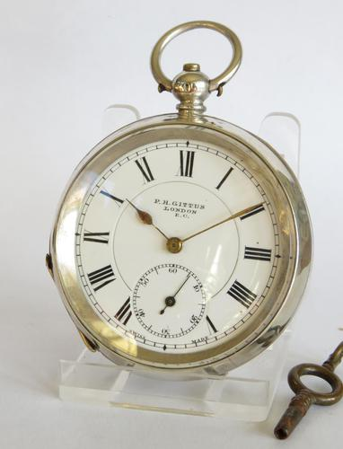 Antique Silver Pocket Watch for Gittus of London (1 of 6)