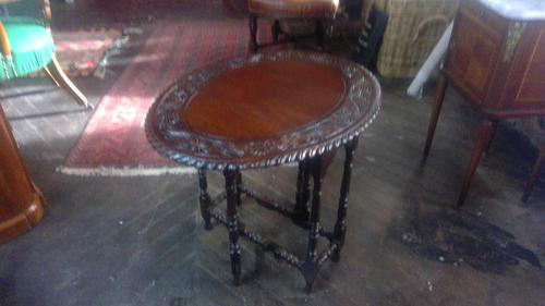 Carved Oak Gateleg Table (1 of 3)