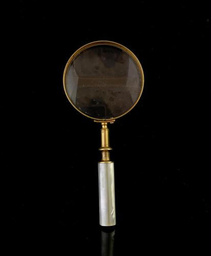 Antique Victorian Magnifying Glass, Cased, Mother of Pearl (1 of 12)