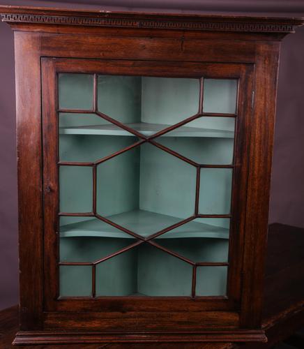 Georgian Mahogany Corner Cupboard Glazed (1 of 4)