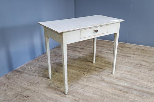 19th Century Painted Pine Side Table (1 of 8)
