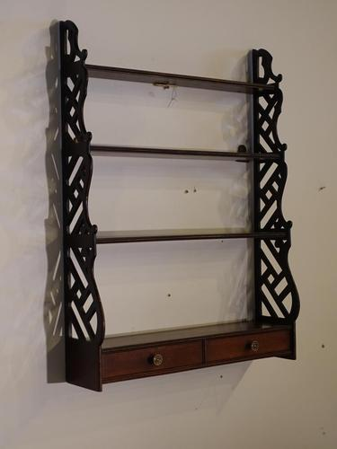 Most Attractive Chippendale Period Mahogany Hanging Rack (1 of 3)