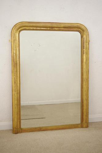 19th Century French Louis Phillipe Style Gilt Overmantle Mirror (1 of 11)