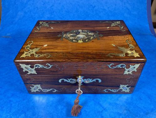 Victorian Jewellery Box with Mother of Pearl Inlay (1 of 13)