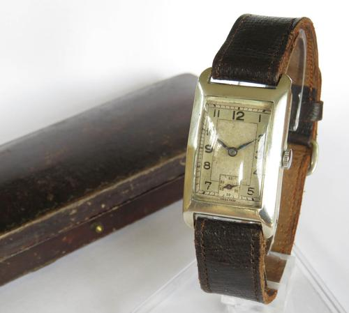 Silver Mid-size Wrist Watch, 1935 (1 of 6)