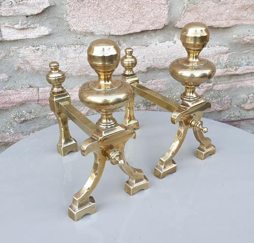 19th Century Brass Fire Dogs (1 of 5)