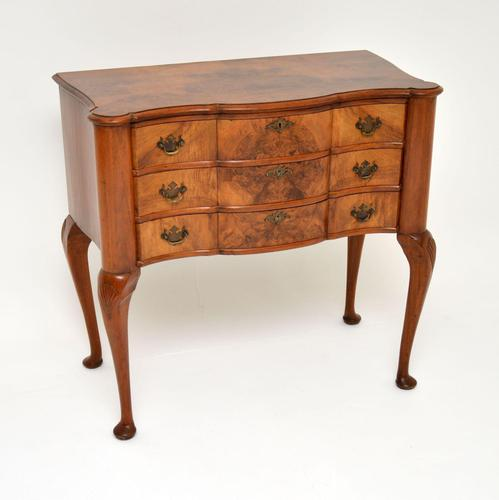 Antique Burr Walnut Lowboy Side Table (1 of 9)