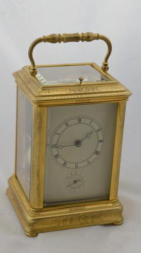 Early Striking Carriage Clock Billiet Robin Paris (1 of 7)