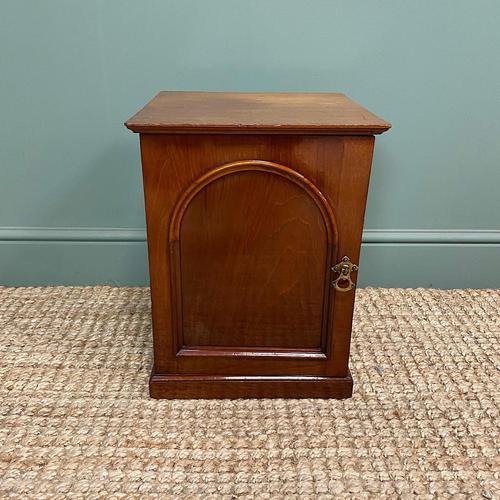 Small Victorian Mahogany Collectors Cabinet (1 of 6)