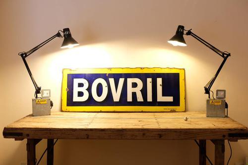 Large Antique Bovril Vitreous Enamel Sign (1 of 13)