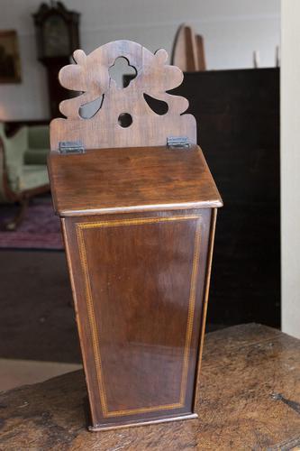 Antique Mahogany Inlaid Candle Box (1 of 4)