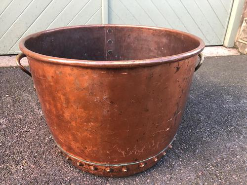 Antique English Copper Rivetted Log Bin (1 of 5)