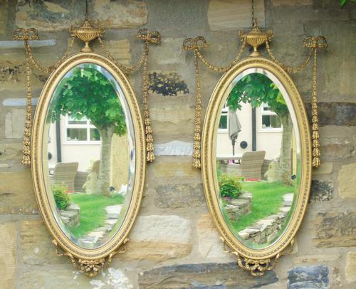 Good Pair of Regency Revival Mirrors after Robert Adam (1 of 8)