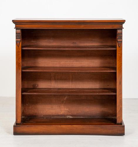Victorian Mahogany Open Bookcase with Adjustable Shelves (1 of 8)